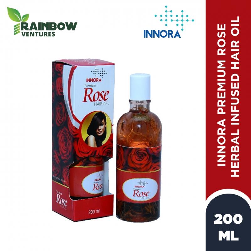 INNORA PREMIUM  ROSE HERBS INFUSED HAIR OIL  200ml